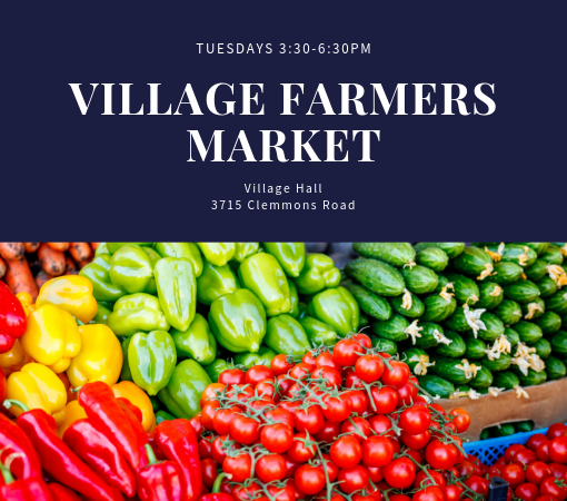 Village Farmers Market Every Tuesday