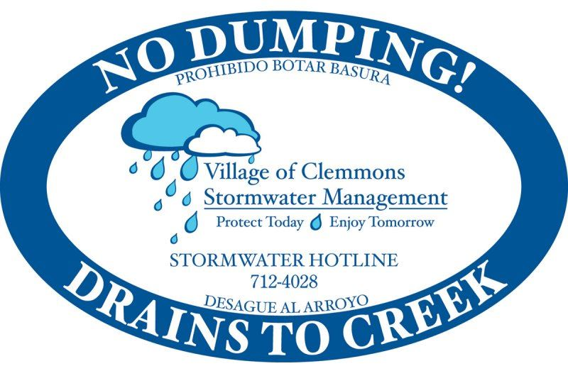 No Dumping! Drains to Creek